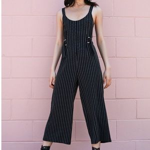 Urban Outfitters pinstripe jumpsuit